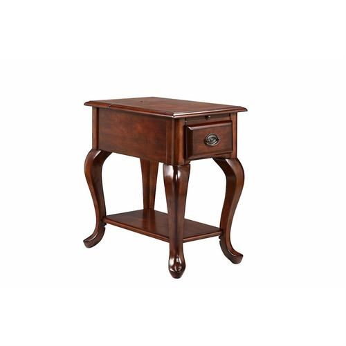 Stein World - Shenandoah Chairside Table With Usb / Electrical Outlets In Dark Stain