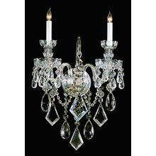 Traditional Crystal 2 Light Cr ystal Wall Sconce