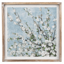 Framed White Cherry Blossom Wall Decor