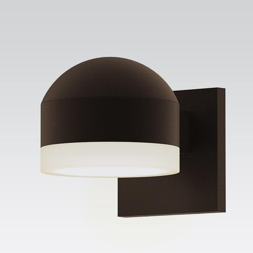 Sonneman - A Way of Light - REALS® Downlight LED Sconce [Color/Finish=Textured Bronze, Lens Type=Dome Cap and White Cylinder Lens]