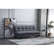 8369 DARK GRAY Pillow Top Multi-Functional Futon Sofa Bed
