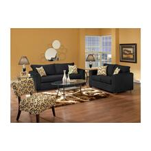 Lean Back Black / Bohemian Domino Loveseat