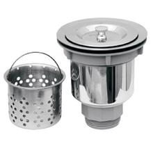 "3 1/2"" stylish basket strainer includes a deep removable basket."