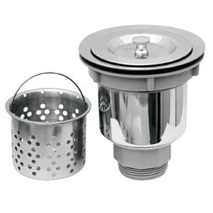 "3 1/2"" stylish basket strainer includes a deep removable basket. Product Image"