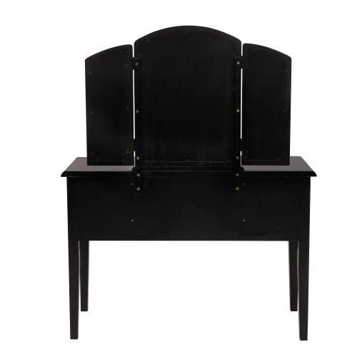 Vanity Set, Antique Black With Sand Through Terra Cotta