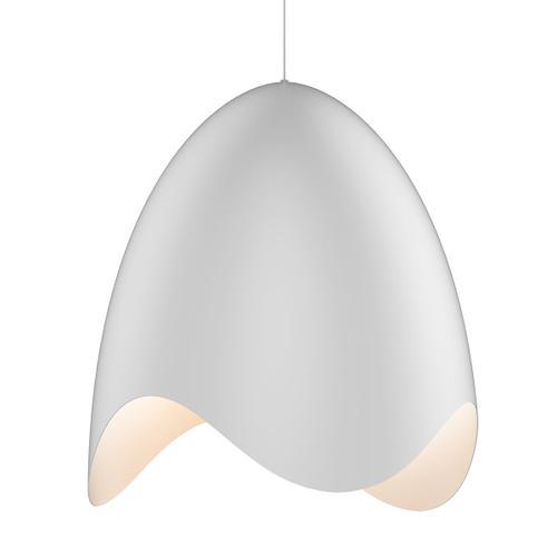 Sonneman - A Way of Light - Waveforms Bell LED Pendant [Size=Large, Color/Finish=Satin White w/Satin White Interior]