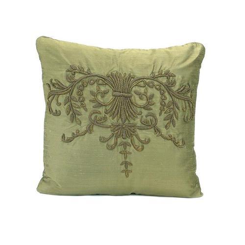 Olive Silk Pillow