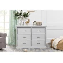 Cloud Grey Foothill-Louis 6-Drawer Dresser