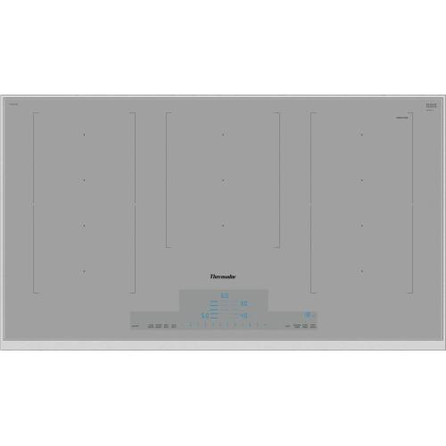 Thermador - 36-Inch Masterpiece® Liberty Induction Cooktop, Titanium Gray, Framed