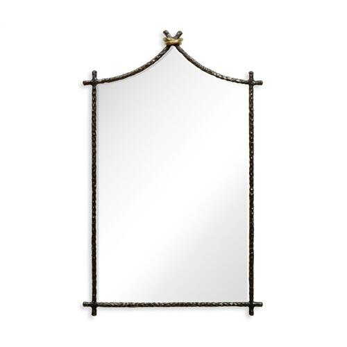 Hammered Antique Black Brass Wall Mirror