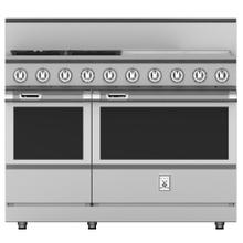 "48"" 4-Burner Dual Fuel Range with 24"" Griddle - KRD Series - Steeletto"