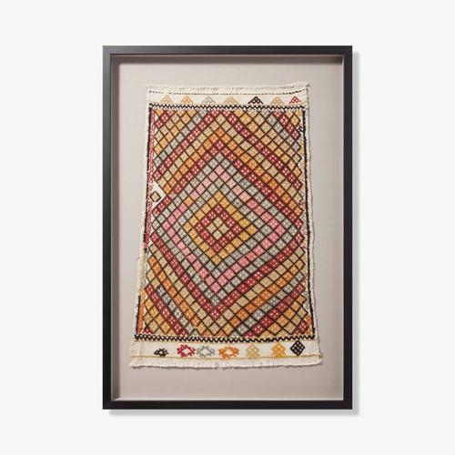 0351760018 Vintage Turkish Rug Wall Art
