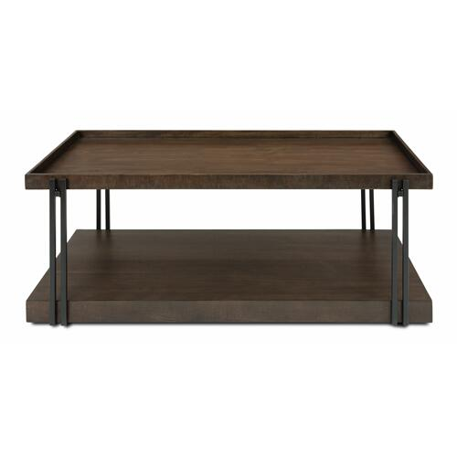 Flexsteel - Prairie Rectangular Coffee Table with Casters