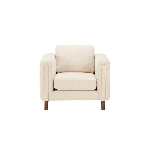 Upholstered Larsen Chair Ivory Boucle