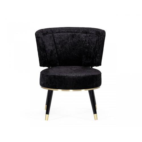 Divani Casa Dristol - Glam Black Accent Chair