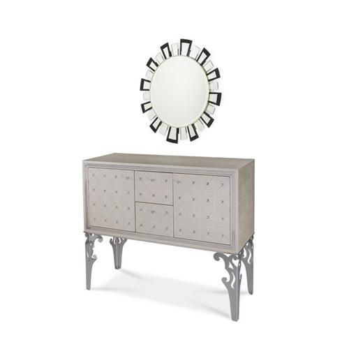 Sideboard and Facet Mirror