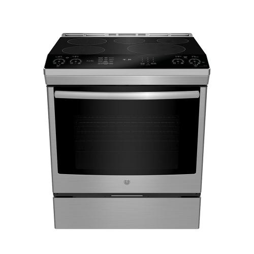 """GE Appliances Canada - GE Profile 30"""" Slide-In Self-Clean Induction Range with WiFi Stainless Steel - PCHS920YMFS"""