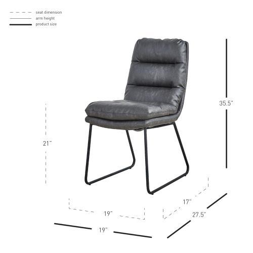 Reese KD PU Chair, Momentum Black