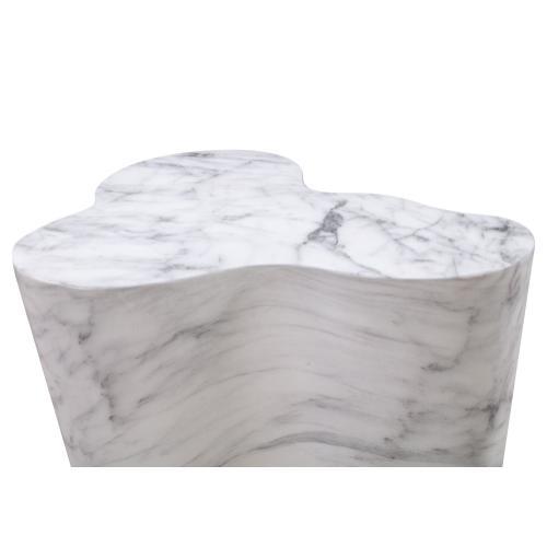 Tov Furniture - Slab Marble Tall Side Table