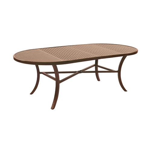 """Castelle - 86"""" Transitional Oval Dining Table"""