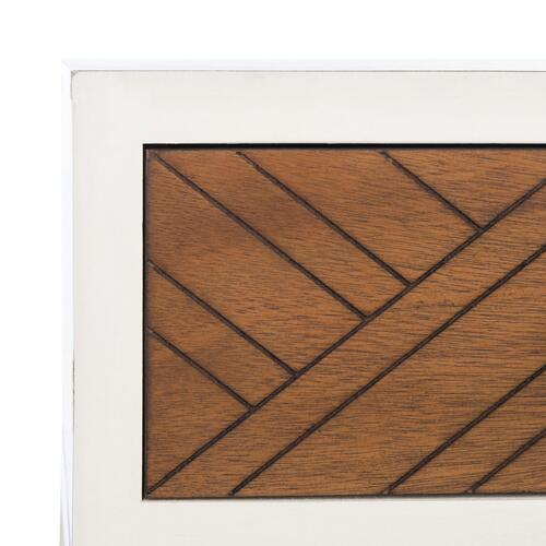 Safavieh - Ajana 2 Drawer Console - Distressed White / Honey Brown Drawer