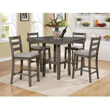 Tahoe Grey 5 Pc Counter Height Dinette Set by Crown Mark, Model 2630