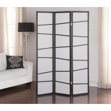 See Details - 3-Panel Screen Room Divider - Black