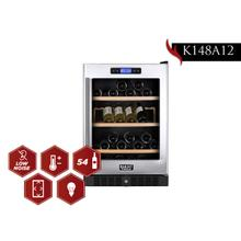 View Product - KUCHT 54-Bottle Dual Zone Wine Cooler Built-in with Compressor in Stainless Steel