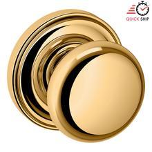 See Details - Lifetime Polished Brass 5015 Estate Knob with 5048 Rose