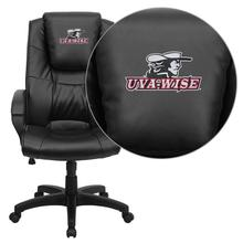 Virginia College at Wise Highland Cavaliers Embroidered Black Leather Executive Office Chair