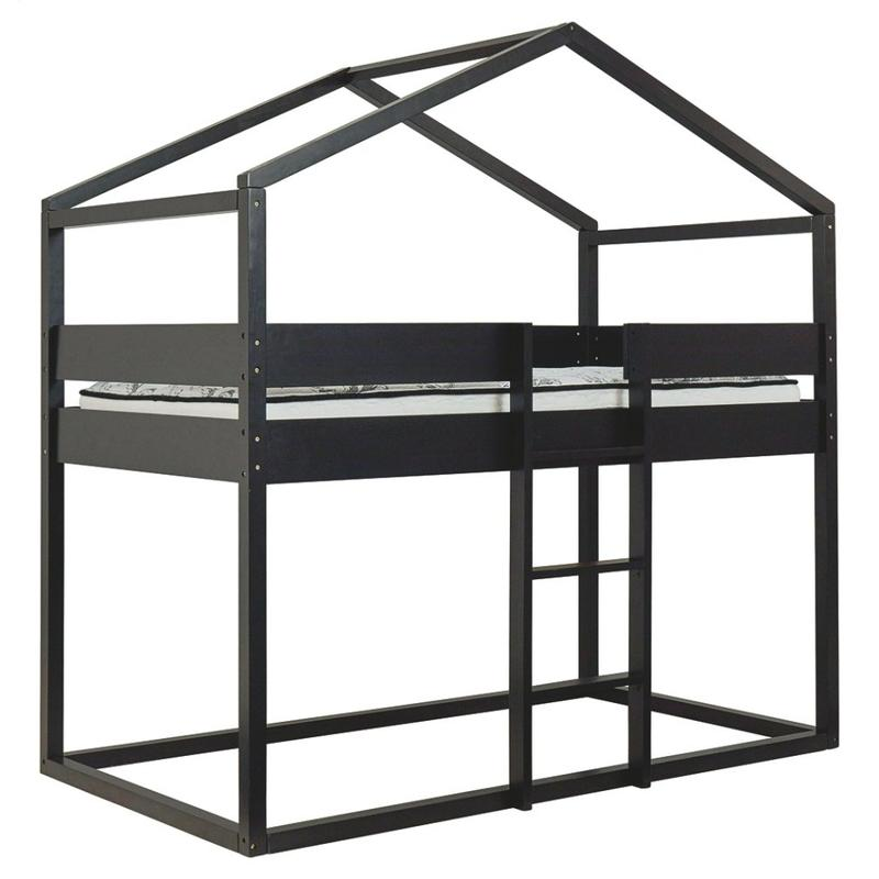 View Product - Flannibrook Twin Over Twin House Loft Bed