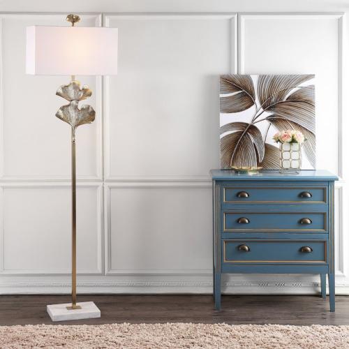 Tala Ginkgo Leaf Floor Lamp - Gold
