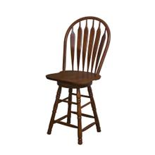 "DLU-B24-NUT  24"" Swivel Barstool  Nutmeg"