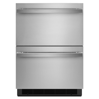 "JennairNoir 24"" Double Drawer Refrigerator/freezer"