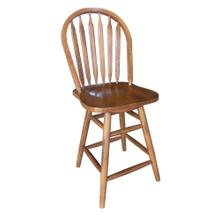 "24"" Arrowback Swivel Barstool"