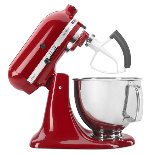 Value Bundle Artisan® Series 5 Quart Tilt-Head Stand Mixer with Flex Edge Beater - Empire Red