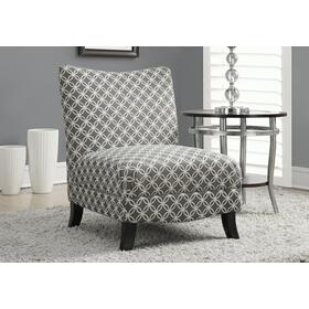 "ACCENT CHAIR - GREY "" CIRCULAR "" FABRIC"