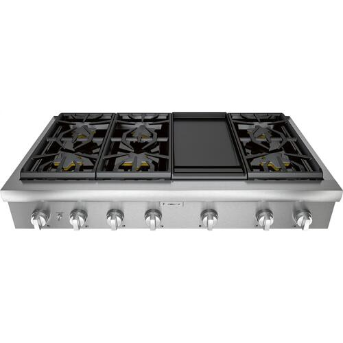 Thermador - Gas Rangetop 48'' Stainless Steel PCG486WD