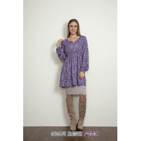 WB Ditsy Signature print Pleated Tunic (6 pc. ppk.)