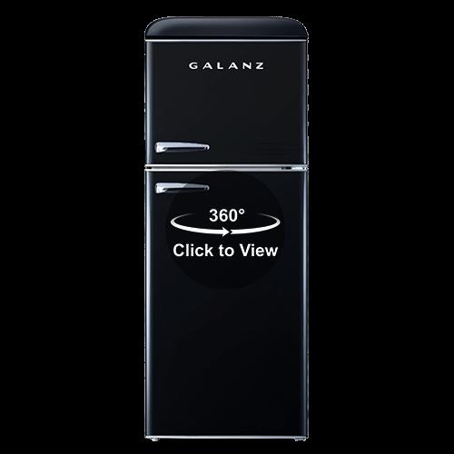 Galanz 4.6 Cu Ft Retro Top Mount Refrigerator in Vinyl Black