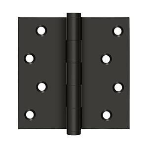 """Deltana - 4"""" x 4"""" Square Hinges Residential / Zig-Zag - Oil-rubbed Bronze"""