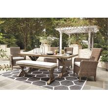 Outdoor Dining Table and 4 Chairs and Bench