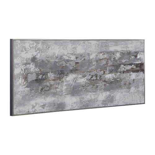 Weathered Stone Hand Painted Canvas
