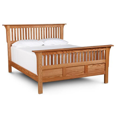 Mission Paneled Slat Bed, Queen