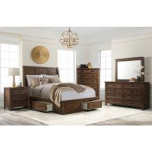 5pc Sullivan Queen Bedroom in Chestnut Finish   (SV500)