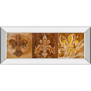 """Fleur De Lis Trio Il"" By Thomas Riker Mirror Framed Print Wall Art"