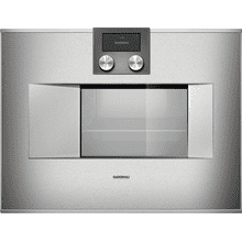 "400 series 400 series Combi-steam oven Stainless steel-backed full glass door Width 24"" (60 cm) Left-hinged Controls on top"