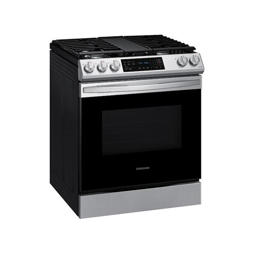 6.0 cu. ft. Front Control Slide-in Gas Range with Convection & Wi-Fi in Stainless Steel