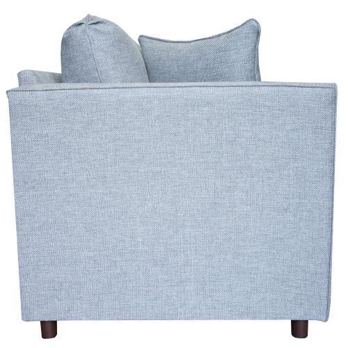 "Capris Furniture - 2 encased fiber filled back pillows over 2 deluxe seat cushion Sofa w/ 2-1/2"" Walnut legs."