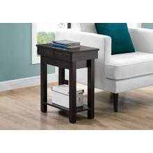 """ACCENT TABLE - 24""""H / ESPRESSO WITH STORAGE"""